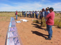A TERN/Auscover workshop on 12 April 2015 at the Arid Zone Research Institute. Participants linked satellite data openly available from QRIScloud to field observations.